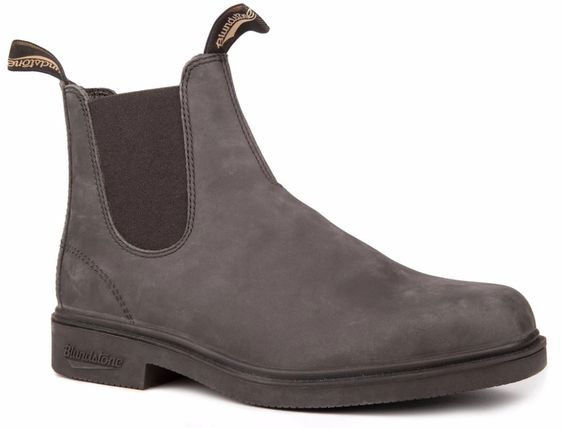 BLUNDSTONE- MEN'S 1308 CHISEL TOE DRESS RUSTIC BLACK