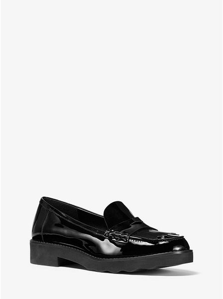 MICHAEL KORS- ALBERTA PATENT LEATHER KILTIE LOAFER