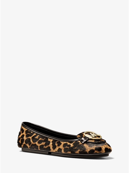 MICHAEL KORS- LILLIE LEOPARD CALF HAIR MOCCASIN