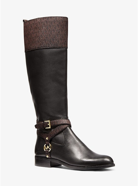MICHAEL KORS- PRESTON TWO-TONE LEATHER BOOT