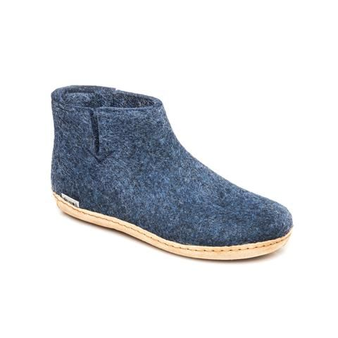 GLERUPS- MEN'S BOOT with Leather Sole in Denim