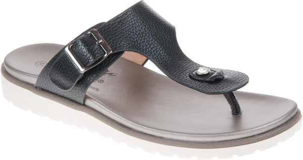 XTI- LADIES BUCKLE T STRAP TOE POST SANDAL