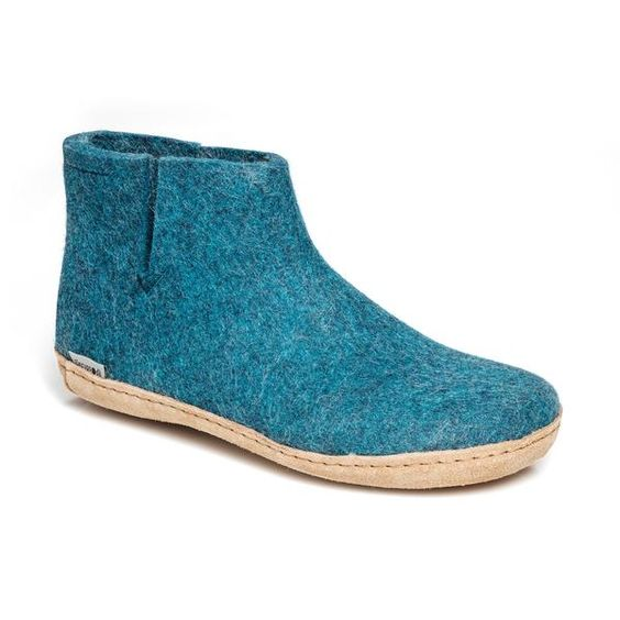 GLERUPS- WOMEN'S BOOT with Leather Sole in Blue
