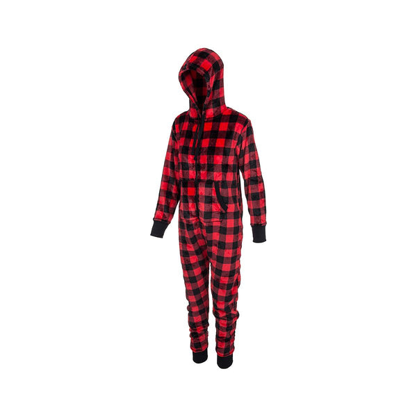 HATLEY- ADULT HOODED FUZZY JUMPSUIT