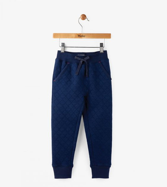 HATLEY- Kids Quilted Navy Jogger