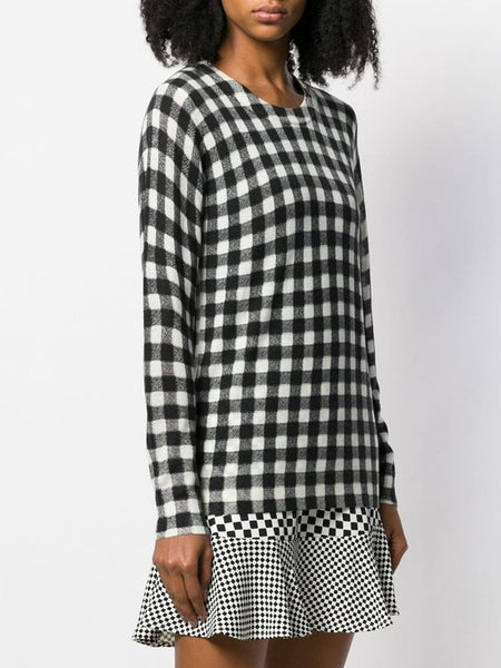MICHAEL KORS- CHECK SWEATER