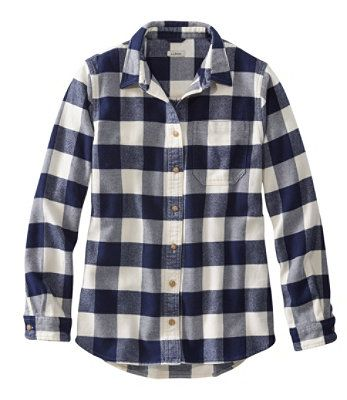 L.L.BEAN- ORGANIC FLANNEL TUNIC, PLAID (more colours)