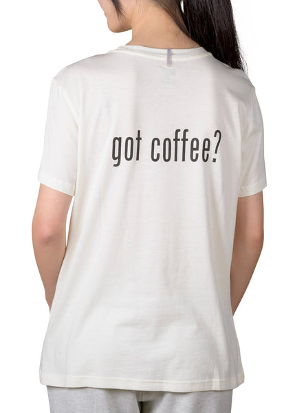 COFFEE SHOPPE- CURRENT MOOD BOYFRIEND T-SHIRT - GOT COFFEE?