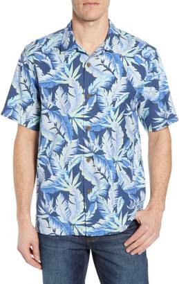 TOMMY BAHAMA- BREAK WAVES FRONDS ISLANDZONE CAMP SHIRT
