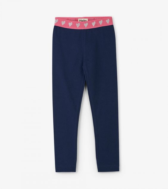 HATLEY- HEARTS EMBELLISHED WAIST LEGGINGS
