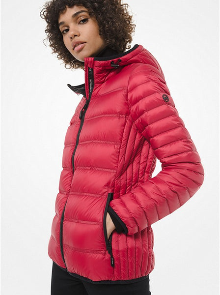 MICHAEL KORS- QUILTED NYLON PUFFER JACKET