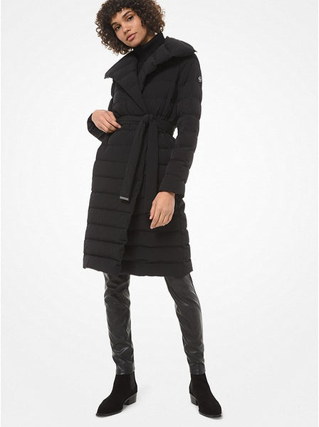MICHAEL KORS- SHAWL COLLAR QUILTED PUFFER COAT