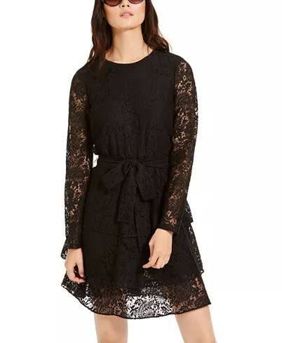 MICHAEL KORS- TIERED LACE DRESS