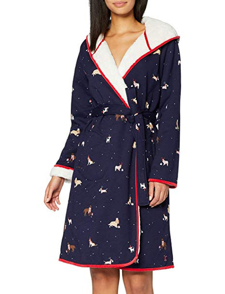 JOULES- IDA JERSEY FLEECE LINED ROBE