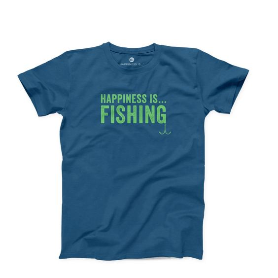 HAPPINESS IS- MEN'S FISHING T-SHIRT