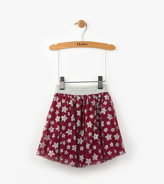 HATLEY- Kids Sparkly Starflowers Tulle Skirt