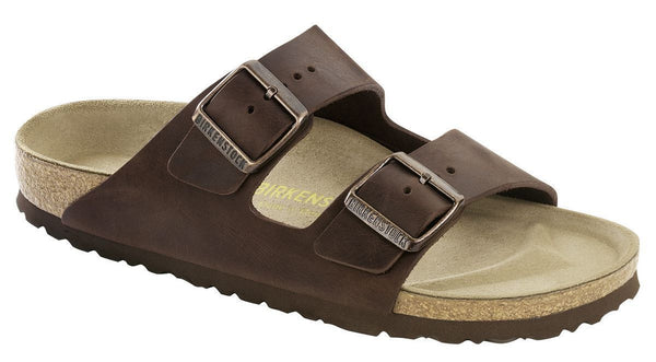 BIRKENSTOCK- MEN'S ARIZONA SOFT | NATURAL LEATHER | HAVANA