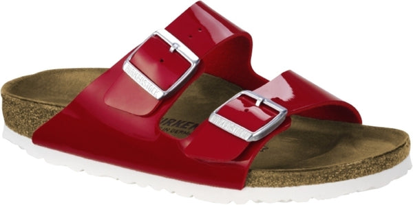 BIRKENSTOCK- WOMEN'S ARIZONA | BIRKO-FLOR | RED PATENT