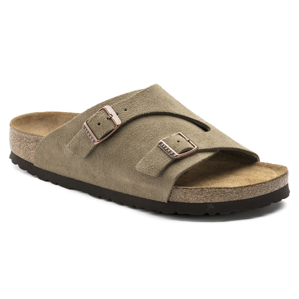 BIRKENSTOCK- MENS- ZURICH SOFT FOOTBED- SUEDE LEATHER