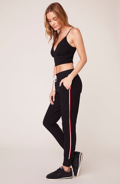BB DAKOTA- ON THE BENCH SWEATPANTS WITH STRIPED TRIM