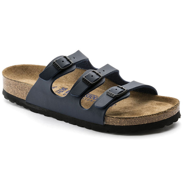 BIRKENSTOCK- FLORIDA SOFT FOOTBED NAVY BIRKO-FLOR