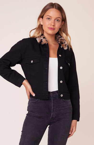 BB DAKOTA- CAN'T RIGHT MEOW DENIM JACKET