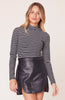 BB DAKOTA- JAILBIRD STRIPED MOCK NECK TOP
