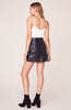 BB DAKOTA- SLIT AND RUN LEATHER SKIRT