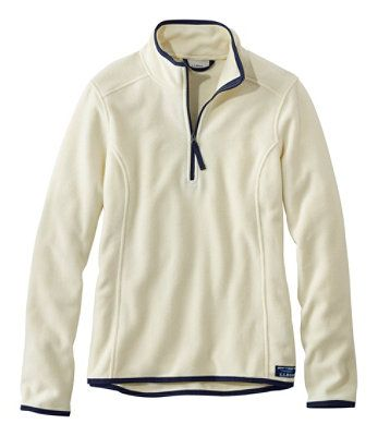 L.L. BEAN- SOFT-BRUSHED FITNESS FLEECE PULLOVER, QUARTER-ZIP (more colours)