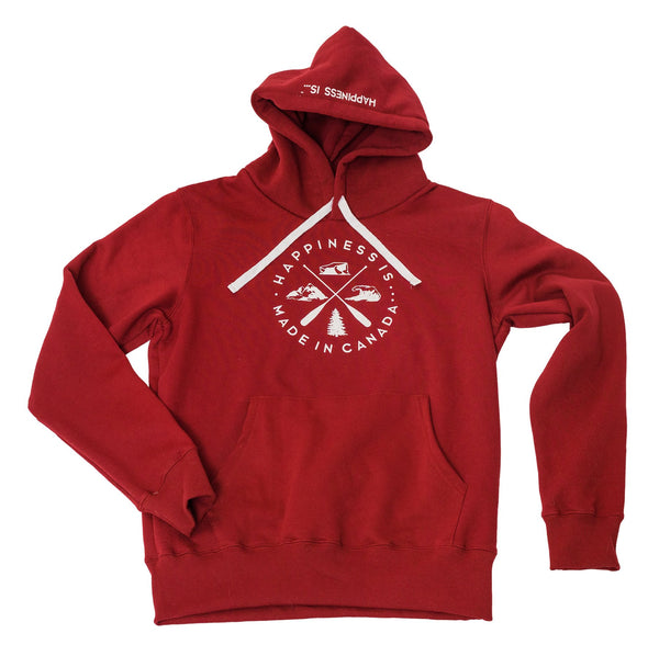 HAPPINESS IS- MEN'S CANADA CREST HOODIE