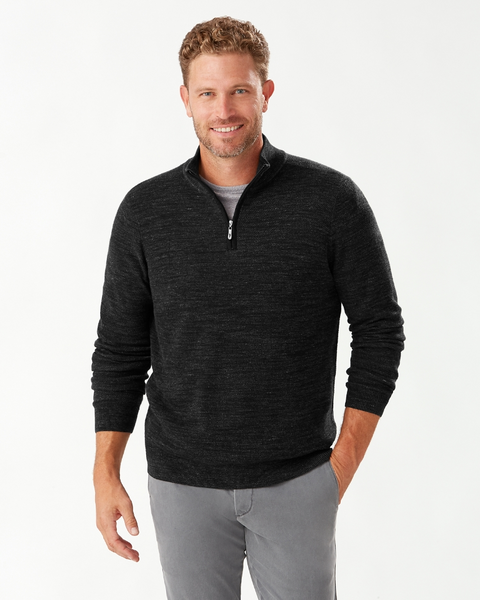 TOMMY BAHAMA- BREAK LINE HALF-ZIP SWEATER (more colours)