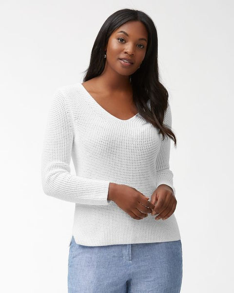 TOMMY BAHAMA- CABANA COTTON V-NECK SWEATER