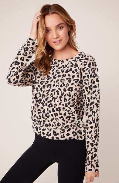 BB DAKOTA- CAT NAP LEOPARD SWEATER