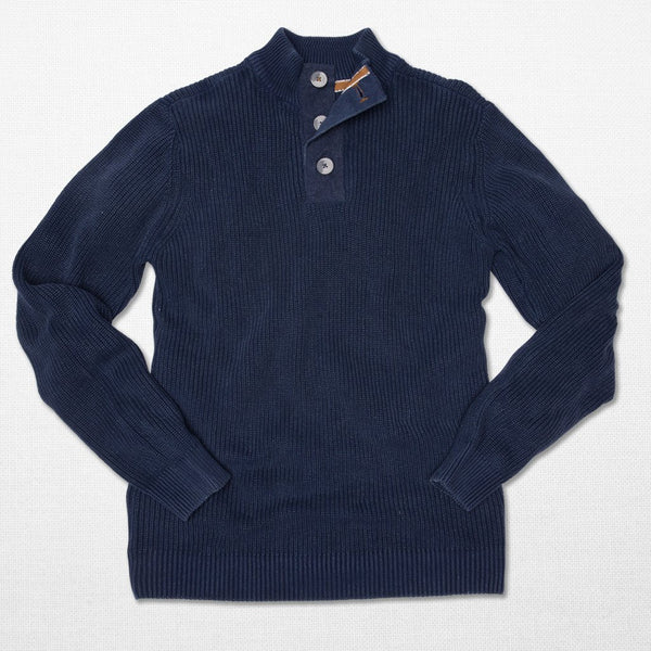 SALUTE- Carbon 3-Button Sweater