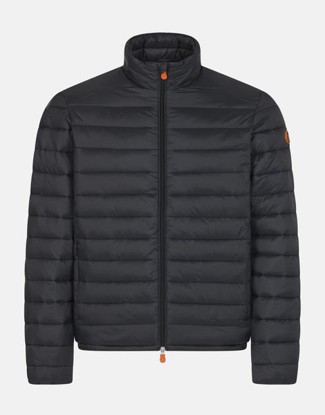 SAVE THE DUCK- MEN'S GIGA PUFFER JACKET WITH FAUX SHERPA LINING