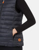 SAVE THE DUCK- WOMEN'S GIGA STAND COLLAR VEST WITH LAMBSKIN LINING (more colours)