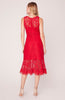 BB DAKOTA- HEARING SIRENS LACE MIDI DRESS