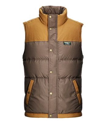 L.L. BEAN- MEN'S MOUNTAIN CLASSIC DOWN VEST, COLOURBLOCK