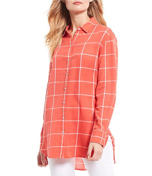 TOMMY BAHAMA- VISTA SOL PLAID LONG SLEEVE