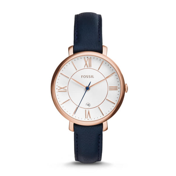 FOSSIL- JACQUELINE NAVY LEATHER WATCH