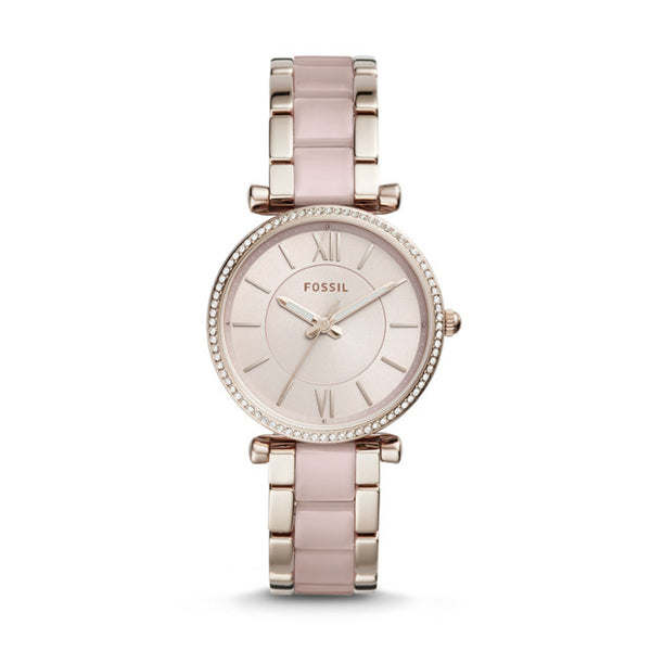FOSSIL- CARLIE THREE-HAND TWO-TONE STAINLESS STEEL WATCH