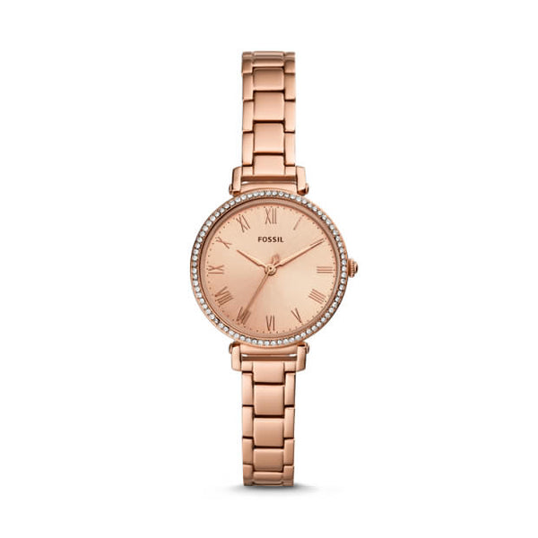 FOSSIL- KINSEY THREE-HAND ROSE GOLD-TONE STAINLESS STEEL WATCH