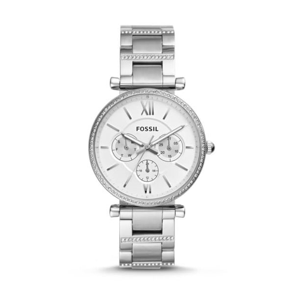 FOSSIL- CARLIE MULTIFUNCTION STAINLESS STEEL WATCH