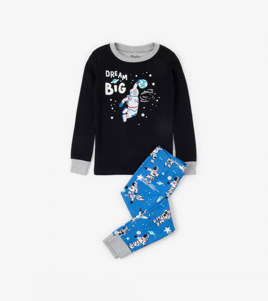 HATLEY-Dream Big Glow in the Dark Organic Cotton Appliqué Pajama Set