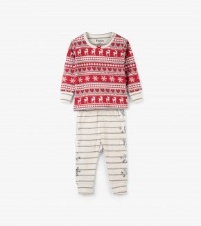 HATLEY-Fair Isle Fawn Organic Cotton Baby Pajama Set 2 PC PJ