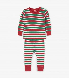 HATLEY-Holiday Stripe Organic Cotton Baby Pajama Set 2 PC PJ