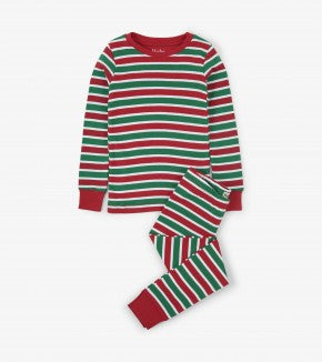 HATLEY-Holiday Stripe Organic Cotton Pajama Set
