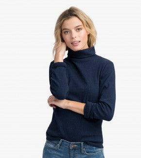 HATLEY-Navy Turtleneck