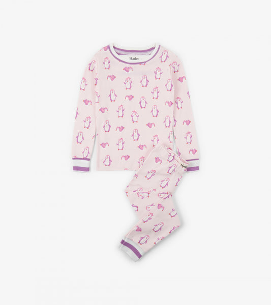 HATLEY- LITTLE BLUE HOUSE- PRECIOUS PENGUINS ORGANIC COTTON PAJAMA SET