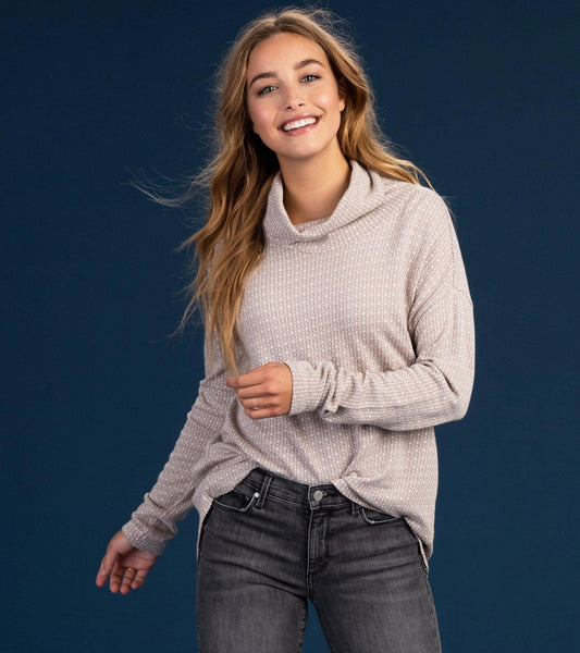 HATLEY- FUNNEL NECK TOP